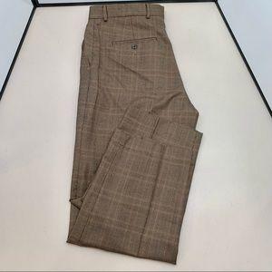 Eddie Bauer Tweed Flat Front Pants 100% Wool Size 36X30